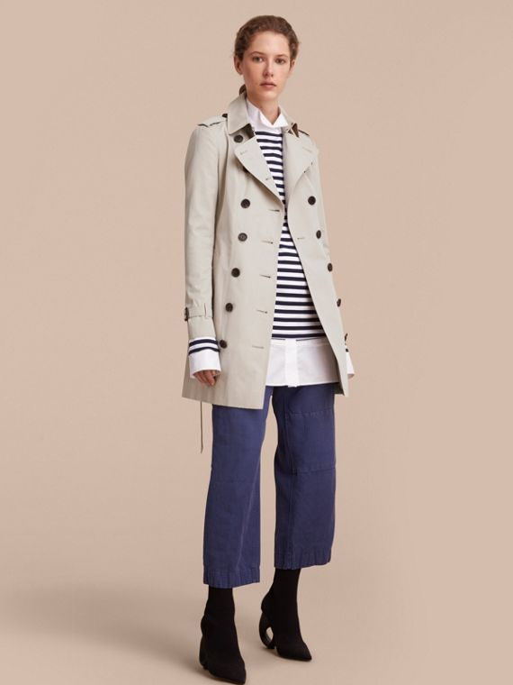 The Sandringham – Mid-Length Heritage Trench Coat Stone