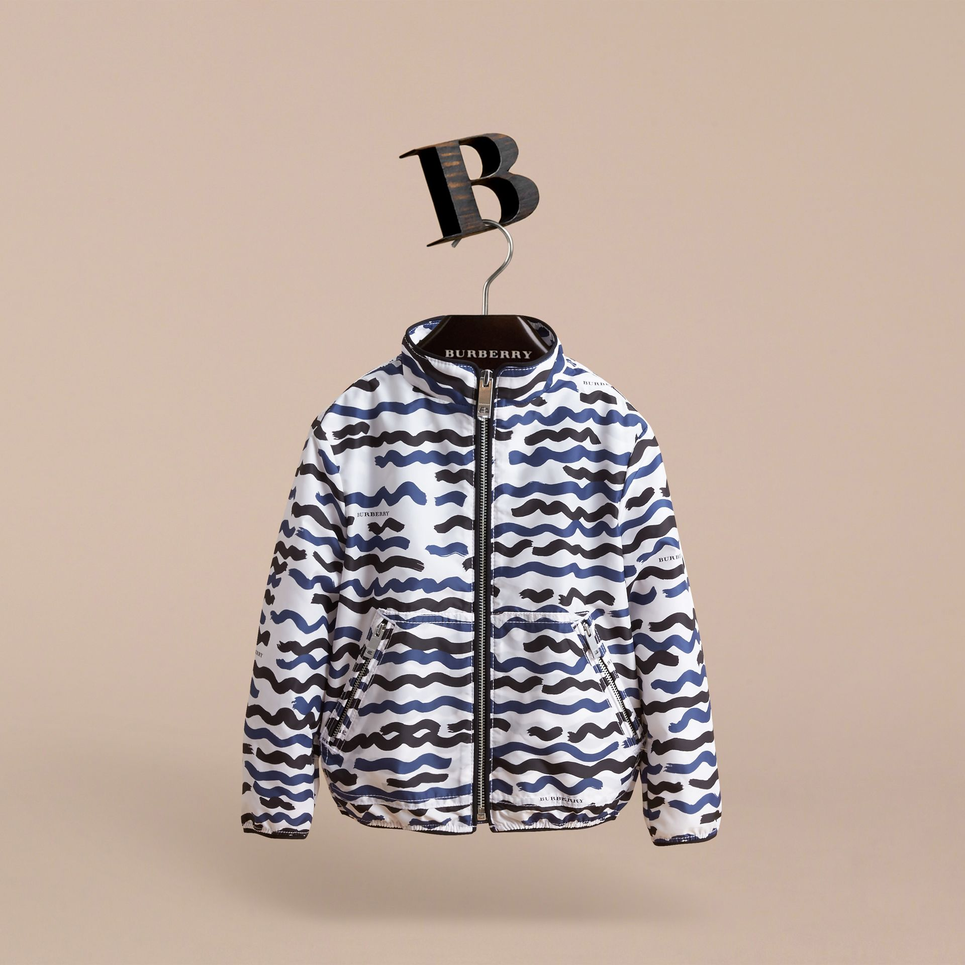 Wave Print Lightweight Jacket - gallery image 3