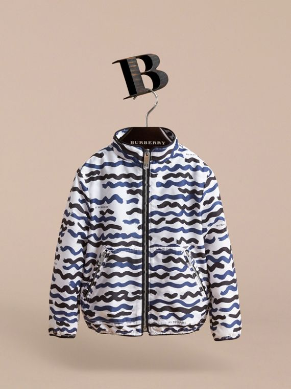 Wave Print Lightweight Jacket - cell image 2