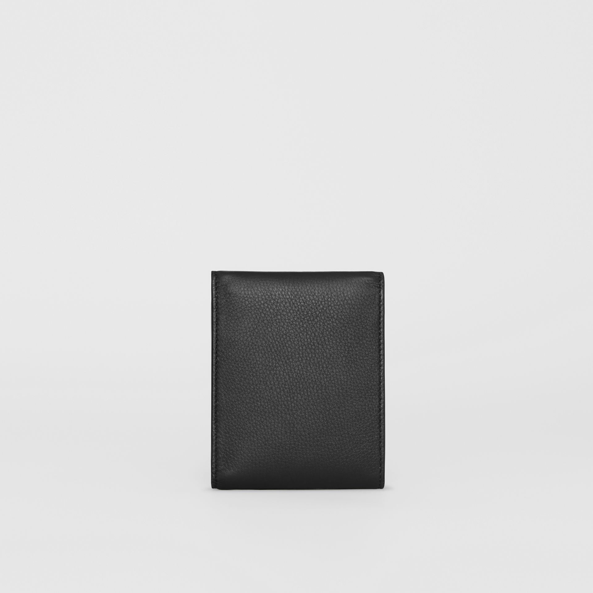 Press-stud Leather International Bifold Wallet in Black - Men | Burberry United States - gallery image 4