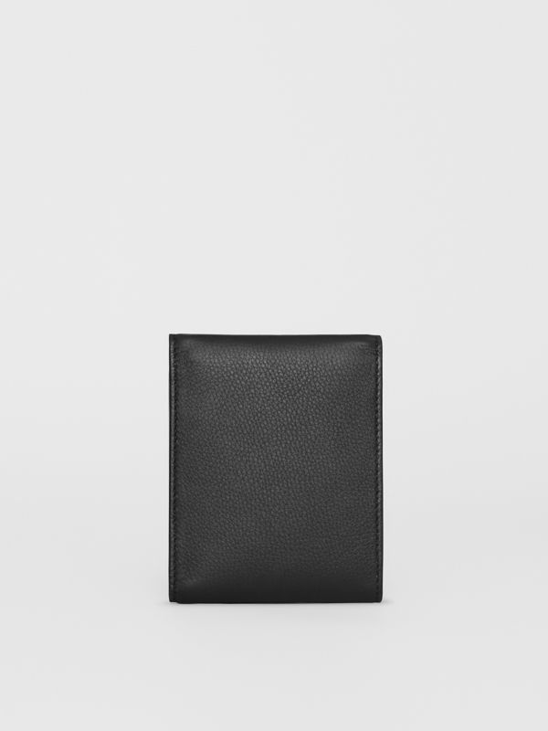 Press-stud Leather International Bifold Wallet in Black - Men | Burberry - cell image 3
