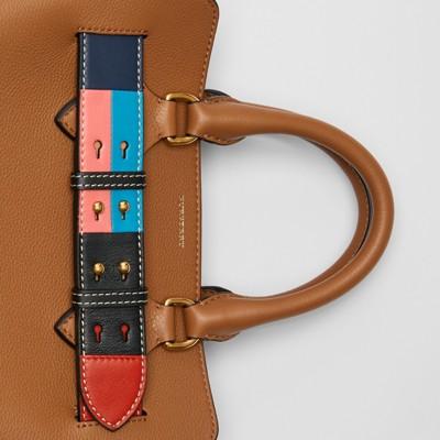 0a12182b4 52ba3 e70a4; new arrivals the small leather colour block detail belt bag in  cognac women burberry australia 19c6f