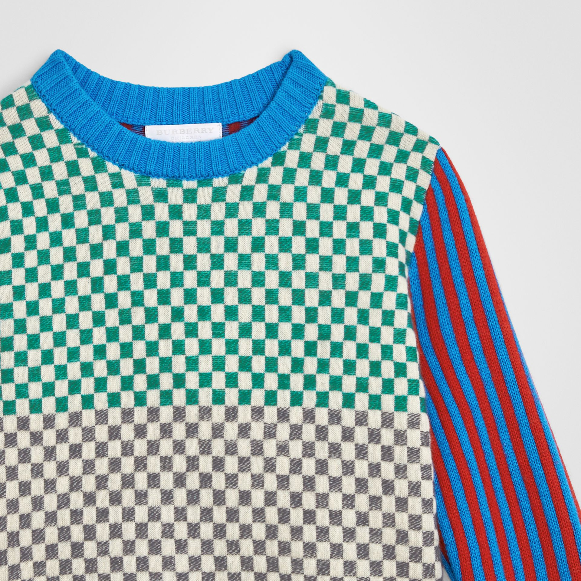 Graphic Cashmere Jacquard Sweater in Multicolour | Burberry - gallery image 4