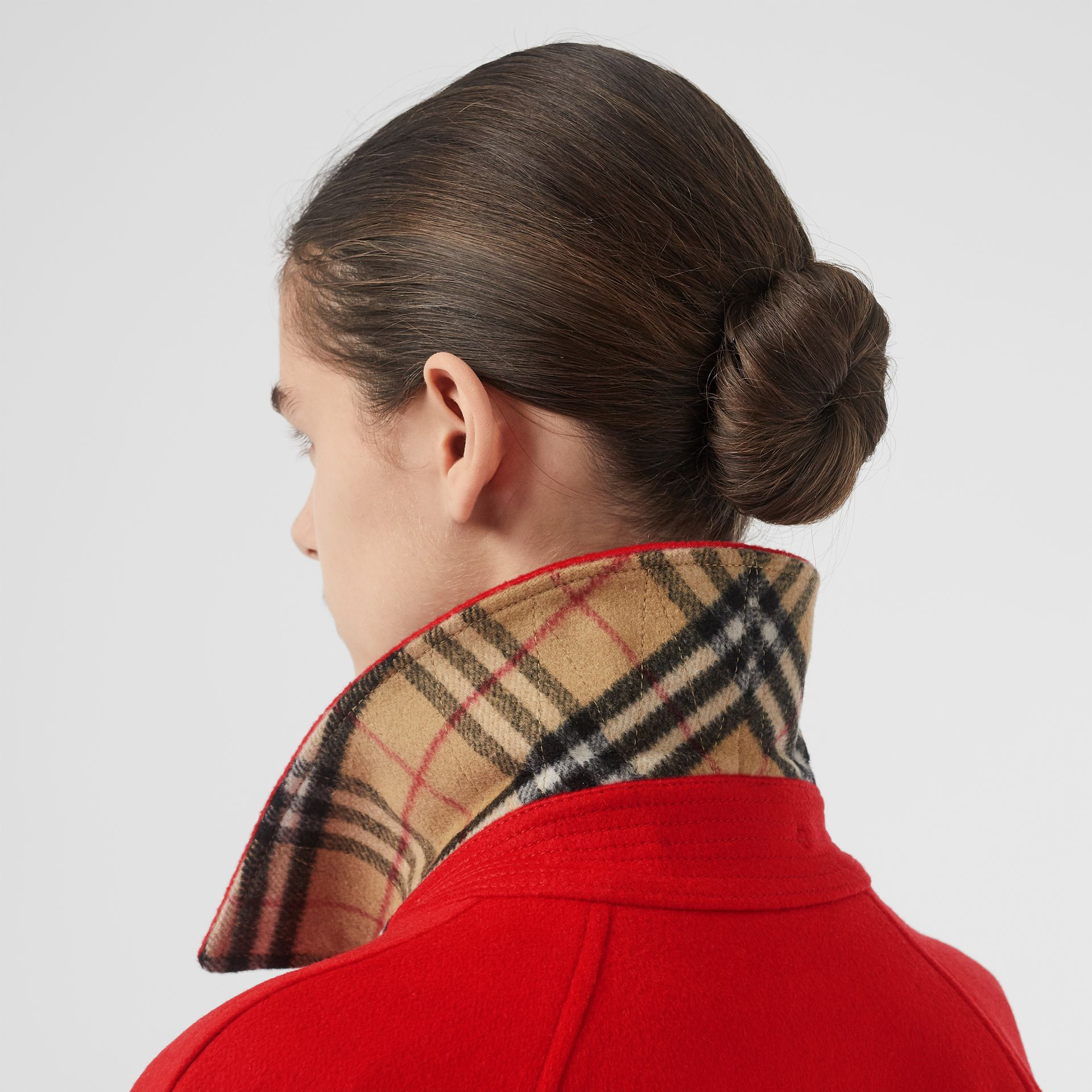 Cashmere Car Coat in Bright Red - Women | Burberry United Kingdom - gallery image 1