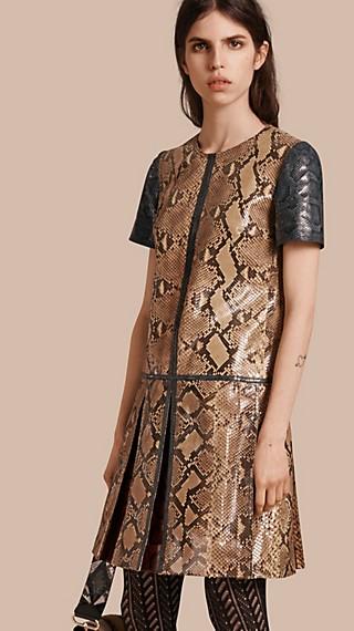 Patchwork Python T-shirt Dress