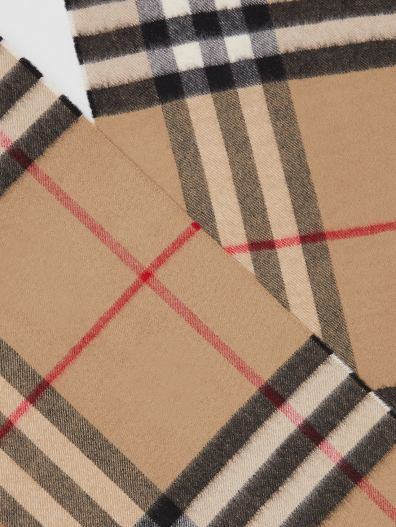The Classic Check Cashmere Scarf (Archive Beige)