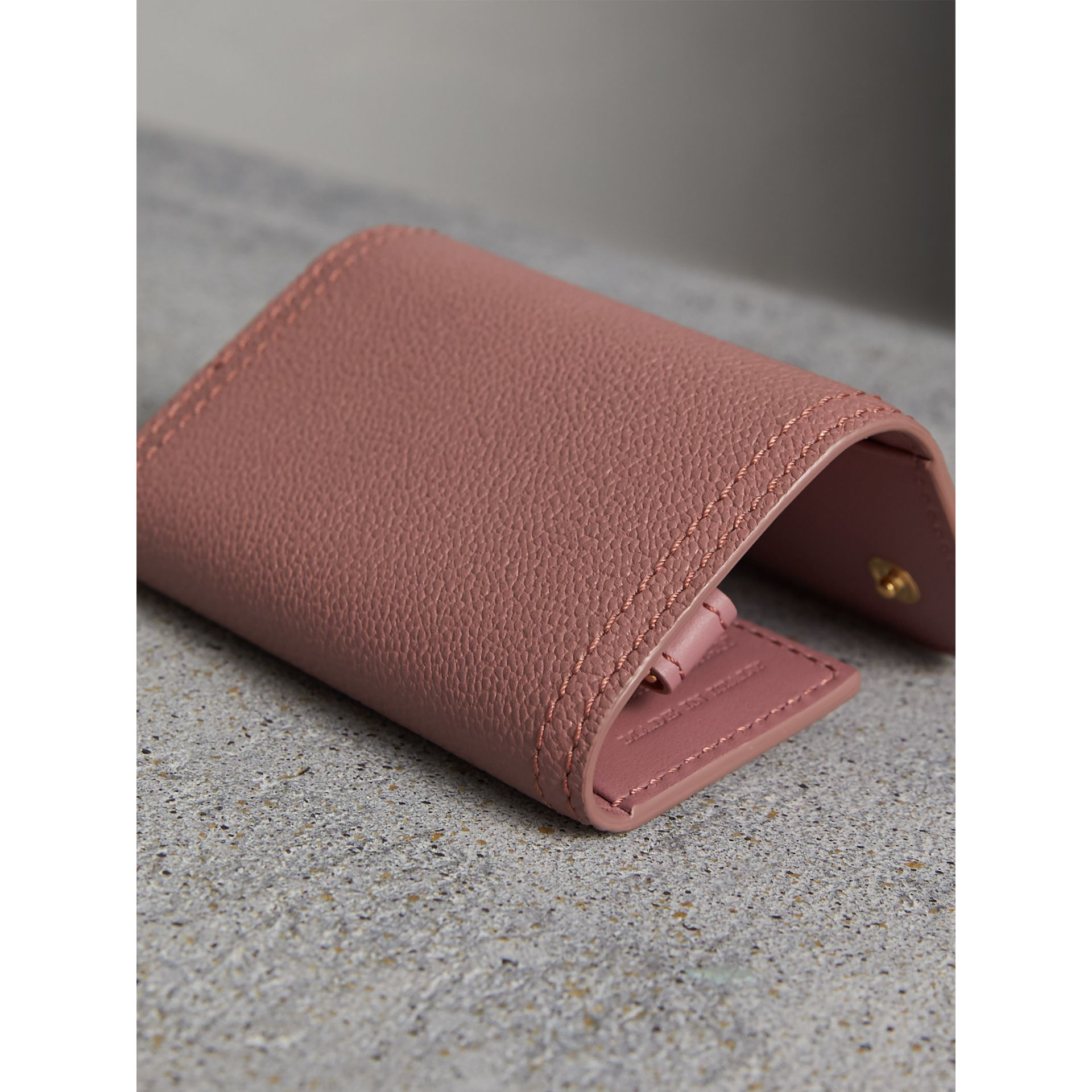 Grainy Leather Key Holder in Dusty Pink - Women | Burberry - gallery image 3
