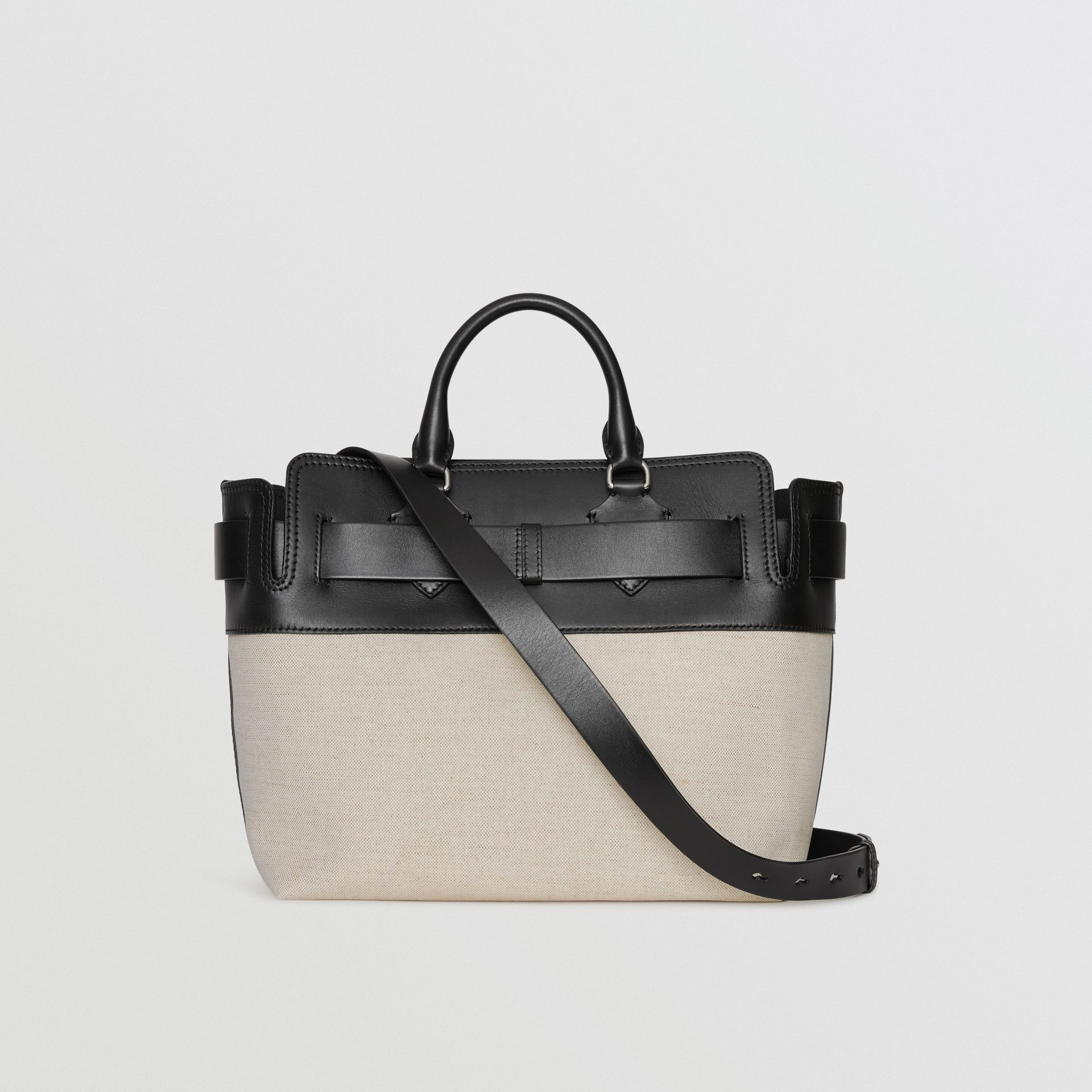 The Medium Canvas and Leather Belt Bag in Black/stone - Women | Burberry United Kingdom - gallery image 8