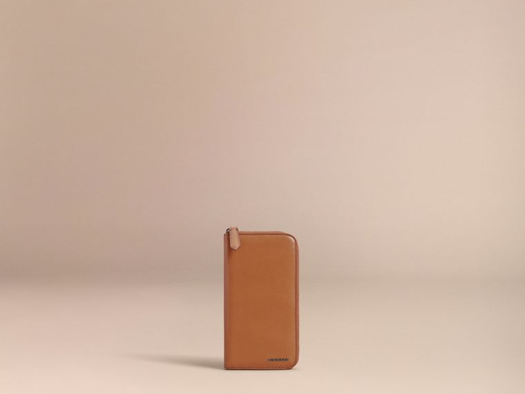 London Leather Ziparound Wallet Tan - cell image 1