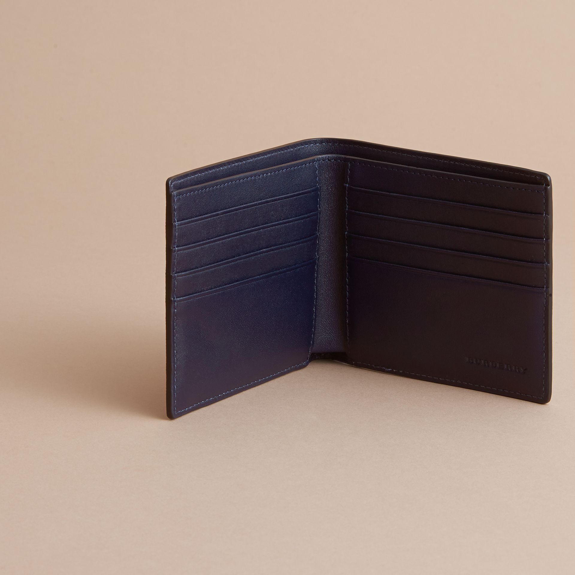 London Check International Bifold Wallet in Bright Lapis - Men | Burberry - gallery image 5