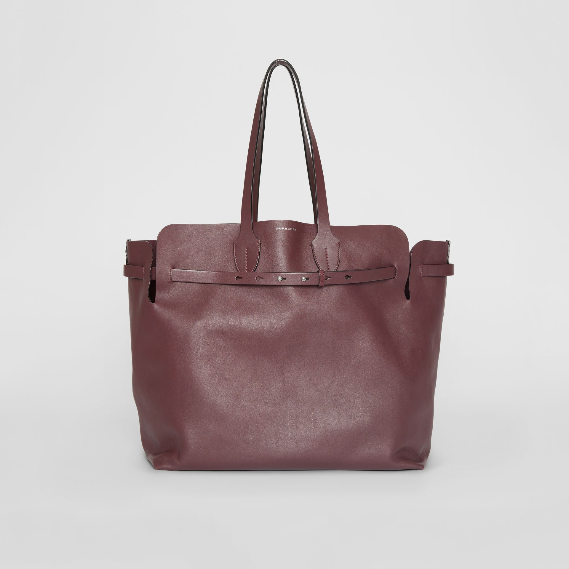 The Large Soft Leather Belt Bag in Deep Claret - Women | Burberry - gallery image 0