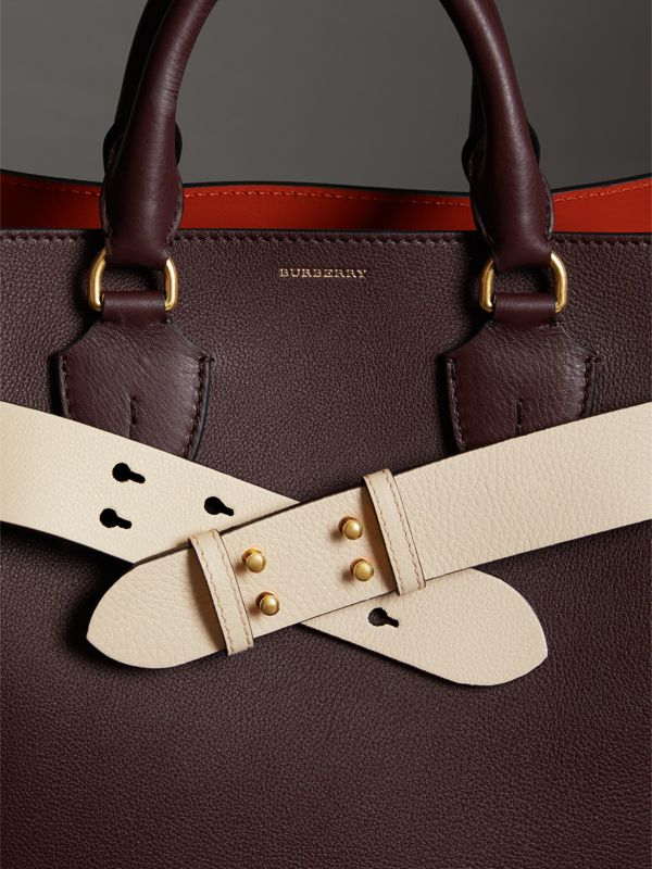 The Medium Belt Bag Grainy Leather Belt in Limestone - Women | Burberry - cell image 2
