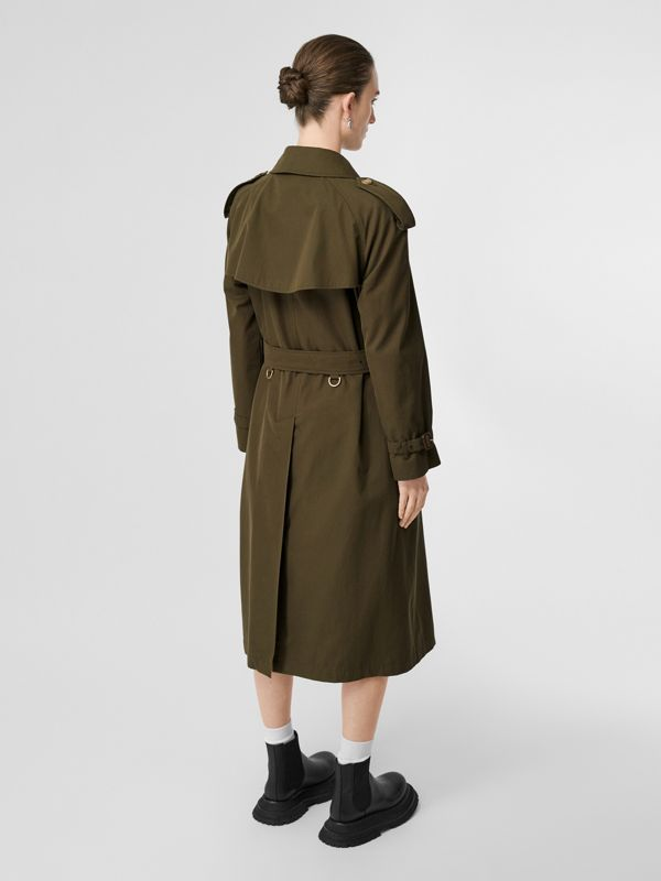 The Long Westminster Heritage Trench Coat in Dark Military Khaki - Women | Burberry Hong Kong - cell image 2