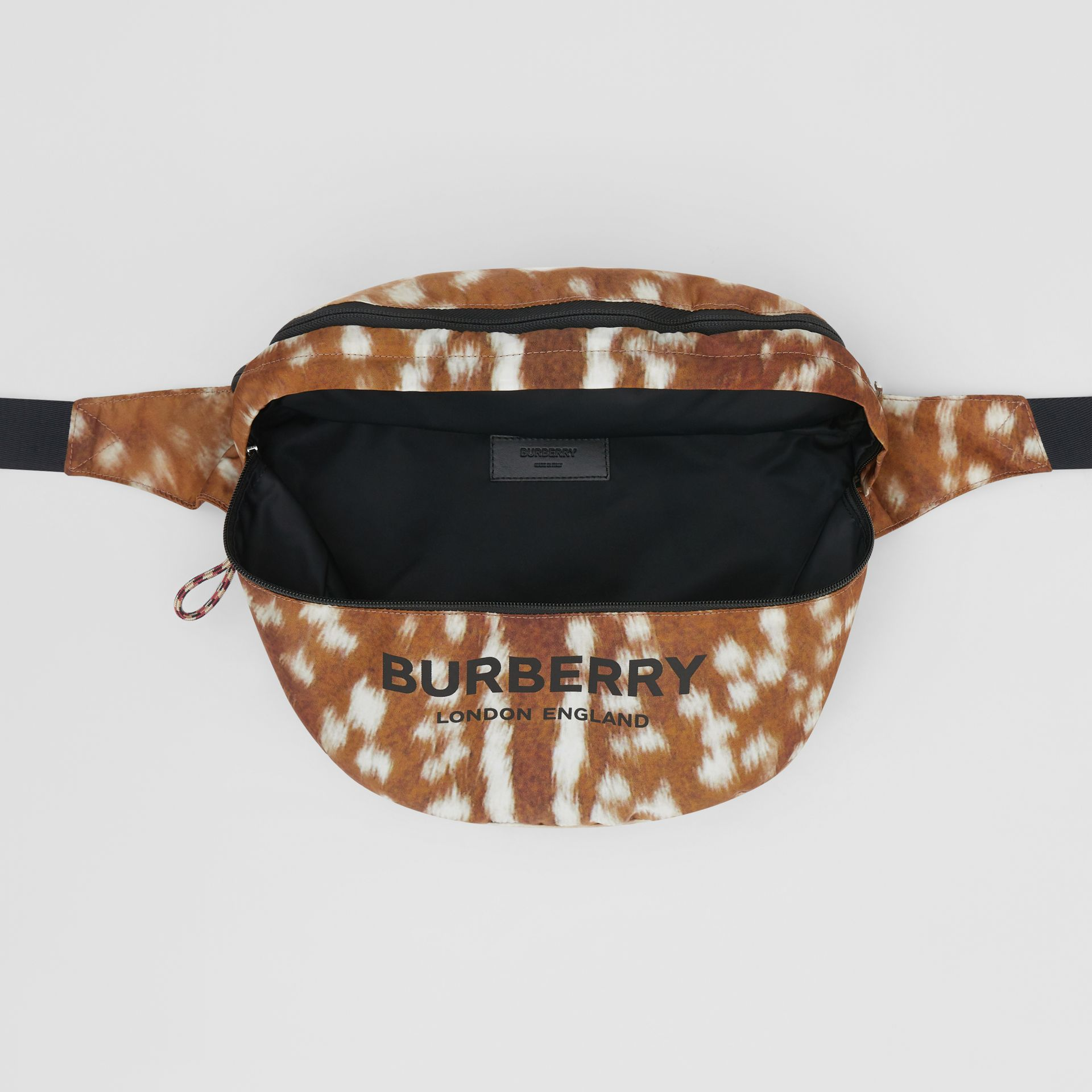 Deer Print Convertible Bum Bag in Tan/white | Burberry - gallery image 13