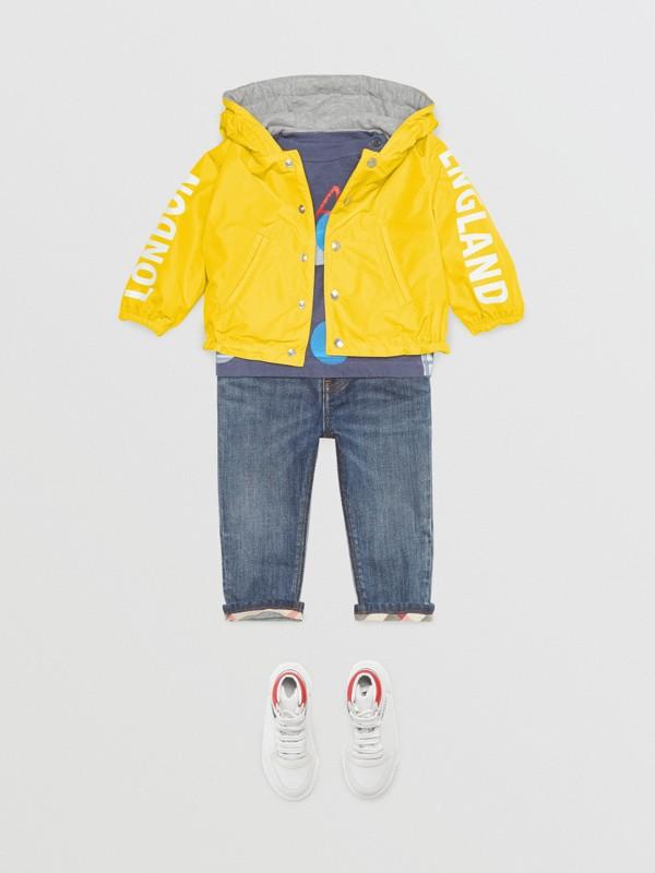 Giacca reversibile con cappuccio e logo (Giallo Intenso) - Bambino | Burberry - cell image 2