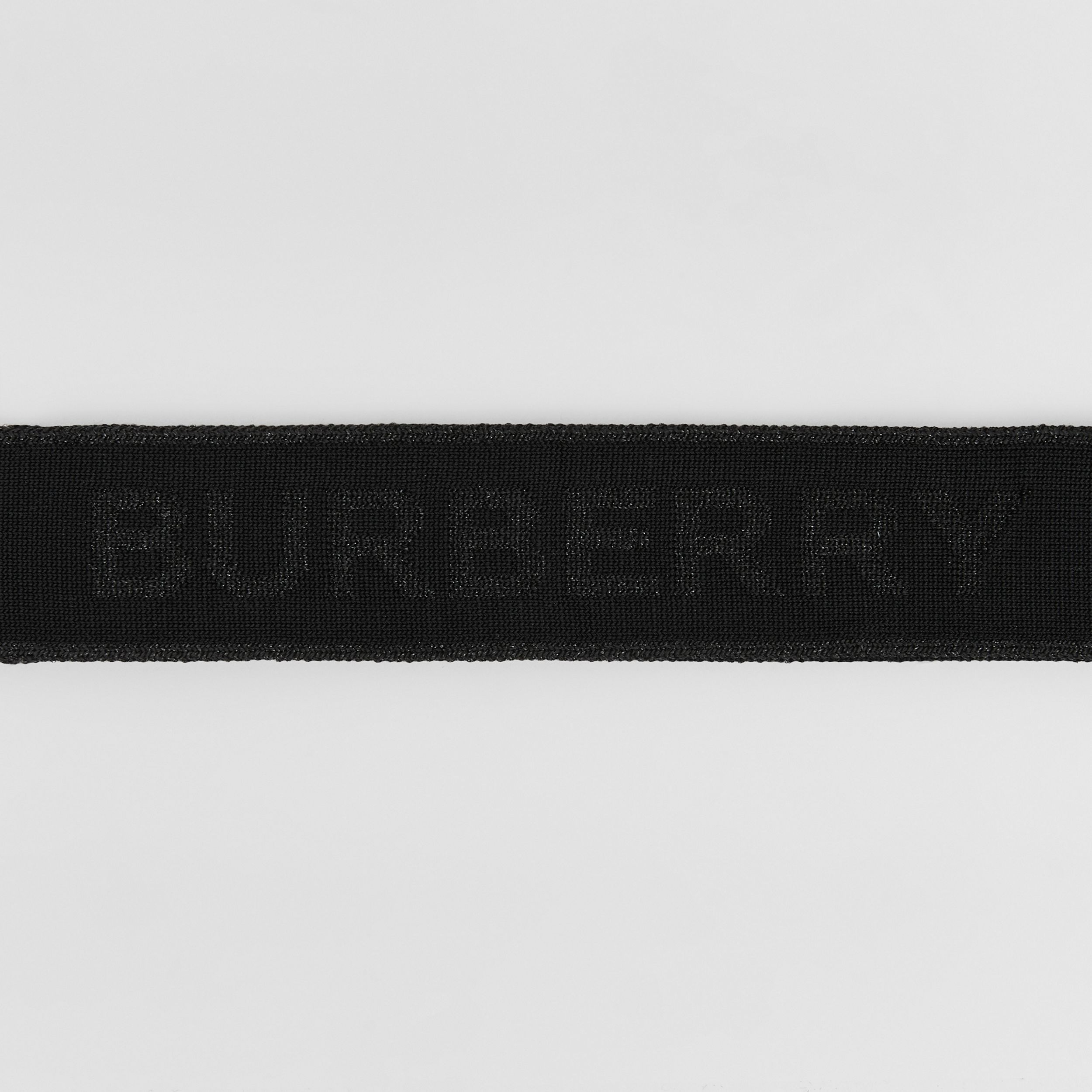 Logo Jacquard Headband in Black | Burberry Canada - 2