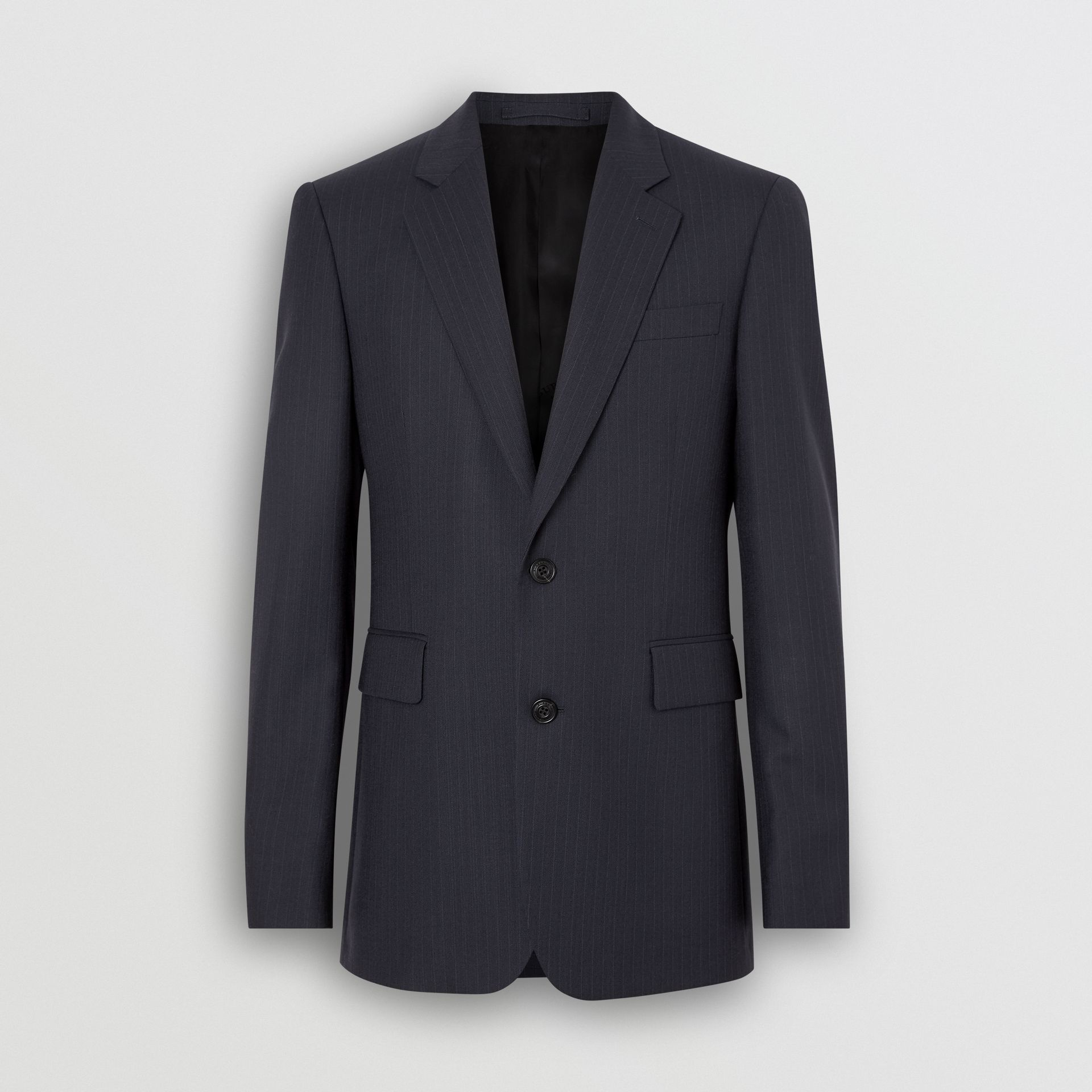 Classic Fit Pinstripe Wool Tailored Jacket in Navy Stripe - Men | Burberry United Kingdom - gallery image 3