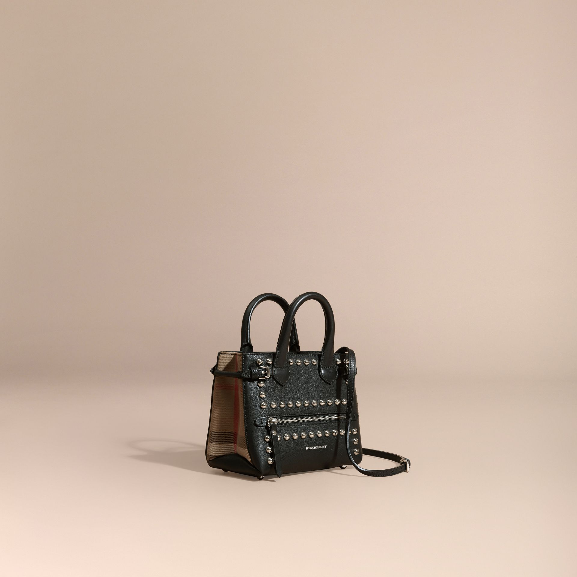 Black The Baby Banner in Studded Leather and House Check - gallery image 1
