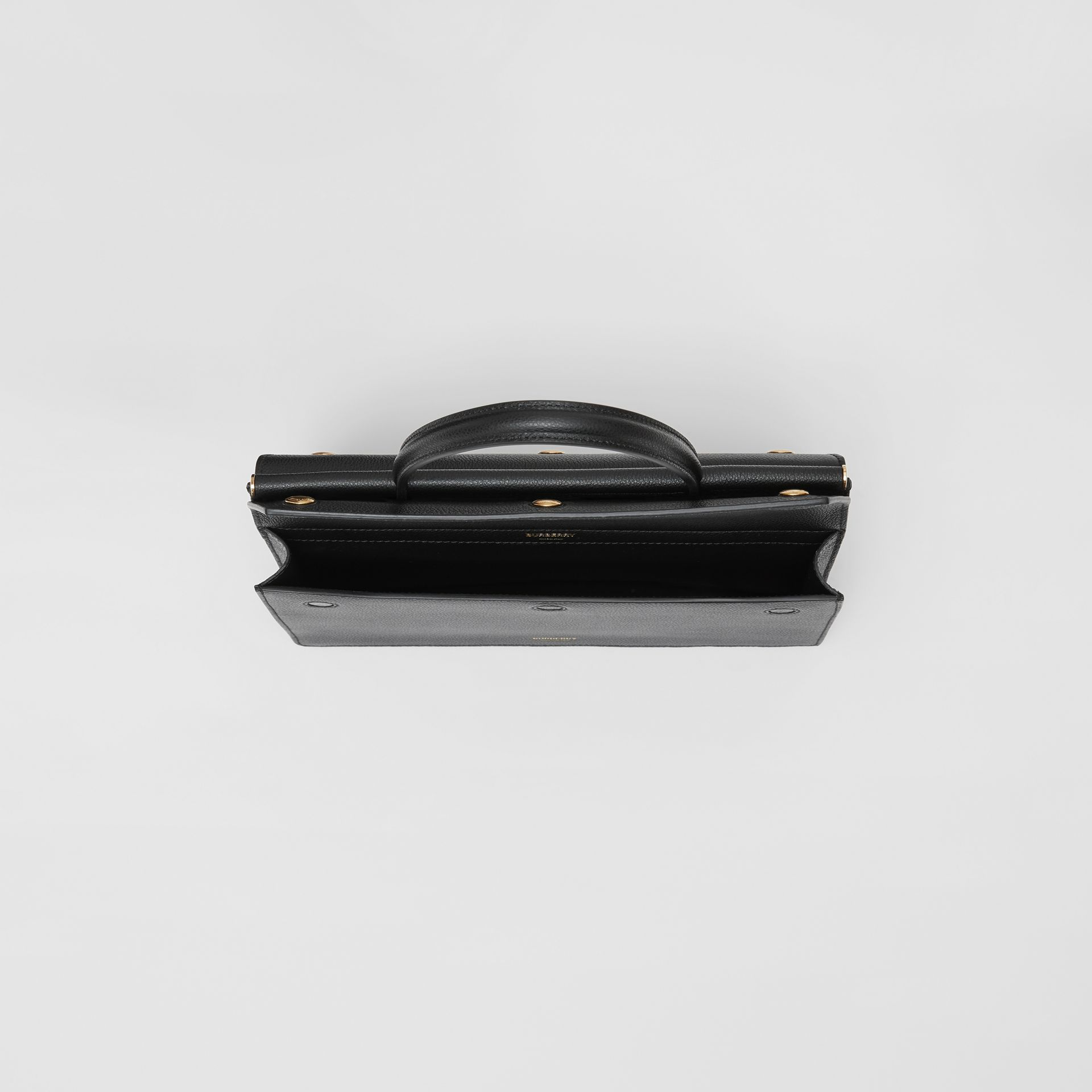 Small Leather Title Bag with Pocket Detail in Black - Women | Burberry United Kingdom - gallery image 4