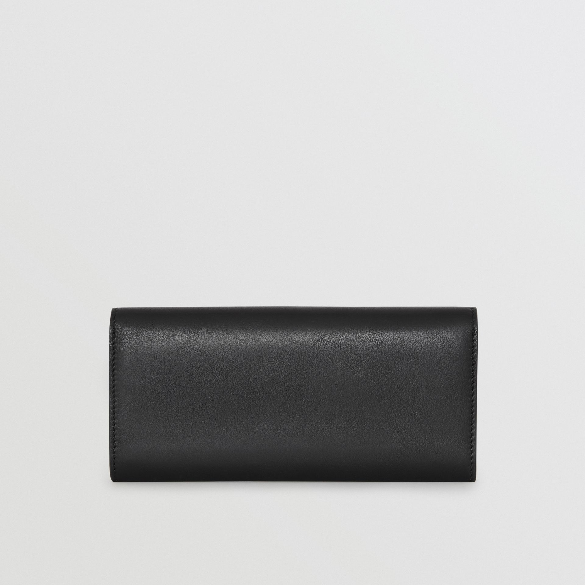 Embossed Crest Two-tone Leather Continental Wallet in Black - Women | Burberry - gallery image 3