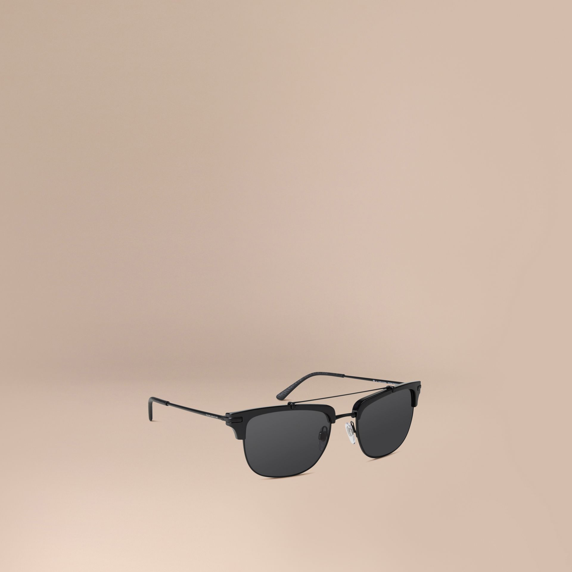 Square Frame Sunglasses in Black - gallery image 1