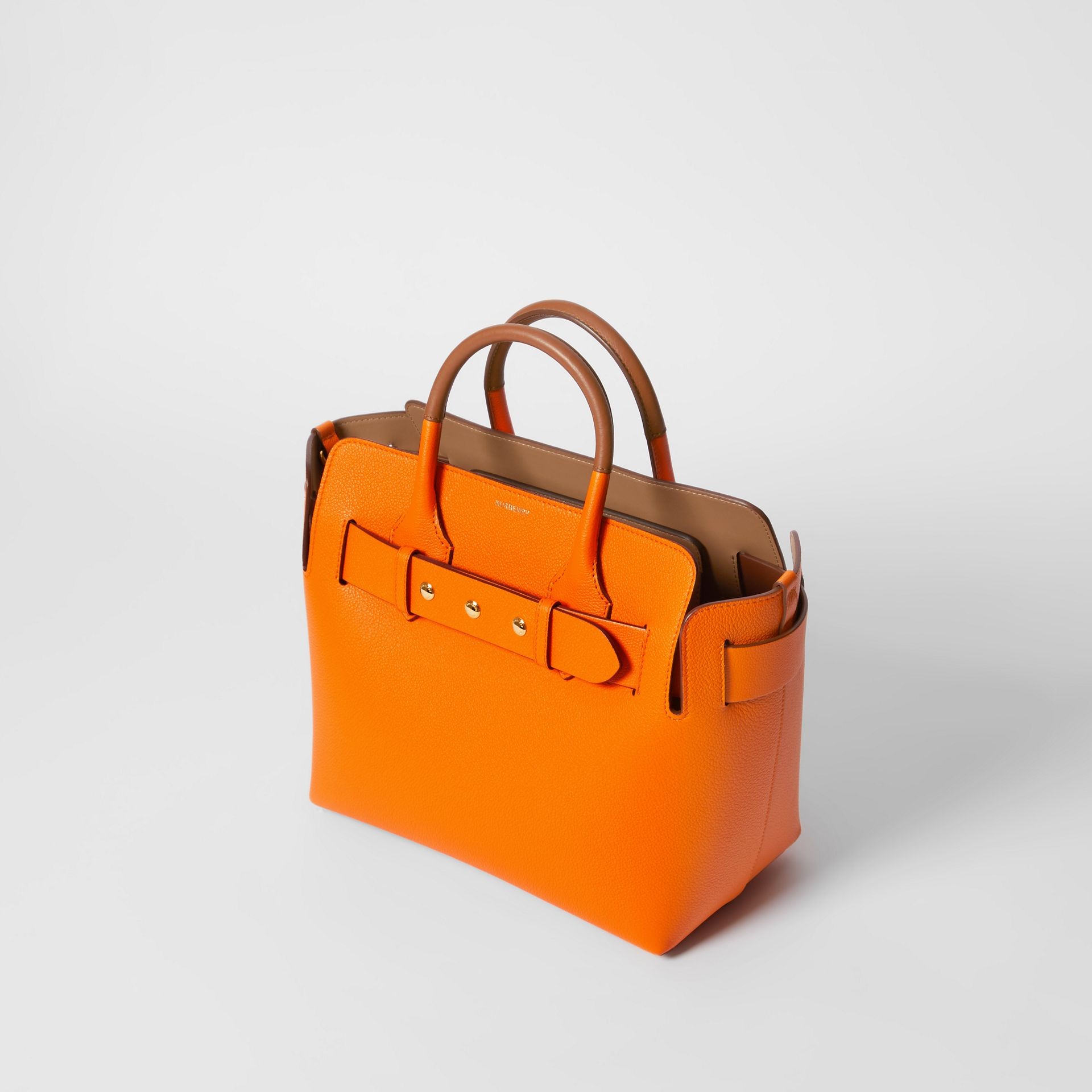 The Small Leather Triple Stud Belt Bag in Bright Orange - Women | Burberry - gallery image 3
