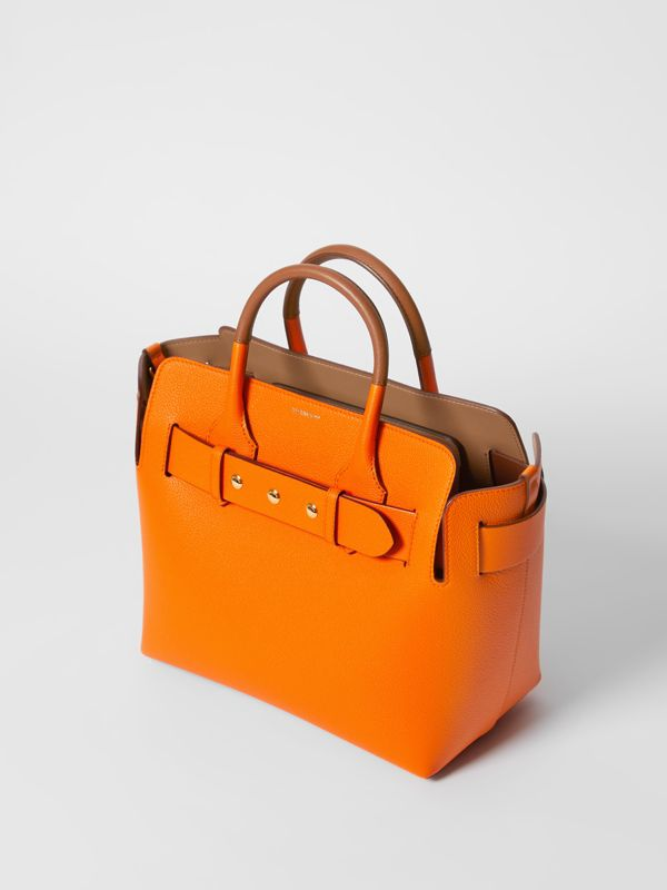 The Small Leather Triple Stud Belt Bag in Bright Orange - Women | Burberry - cell image 3