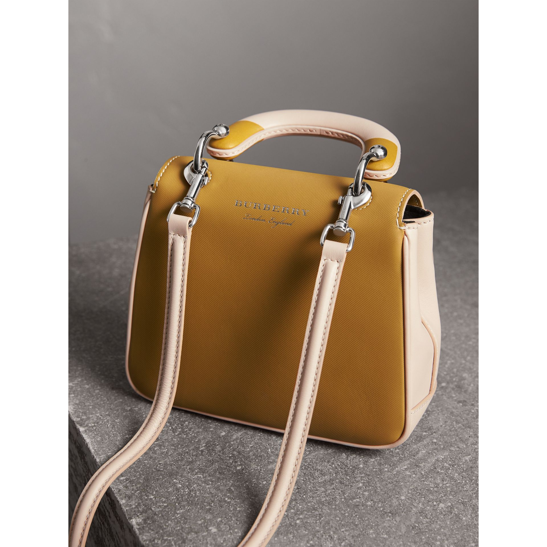The Small DK88 Top Handle Bag with Geometric Print in Limestone/ochre Yellow - Women | Burberry Hong Kong - gallery image 4