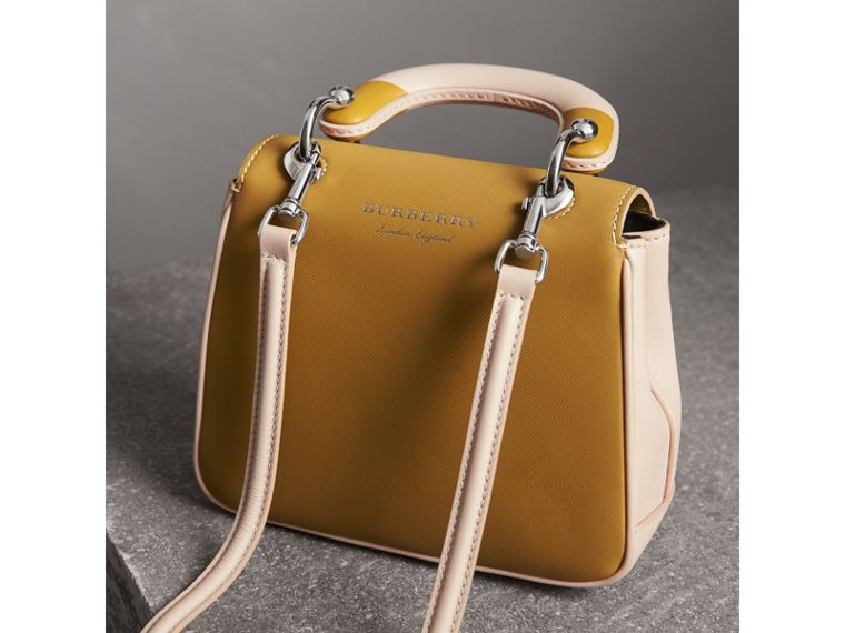 The Small DK88 Top Handle Bag with Geometric Print in Limestone/ochre Yellow - Women | Burberry - cell image 4