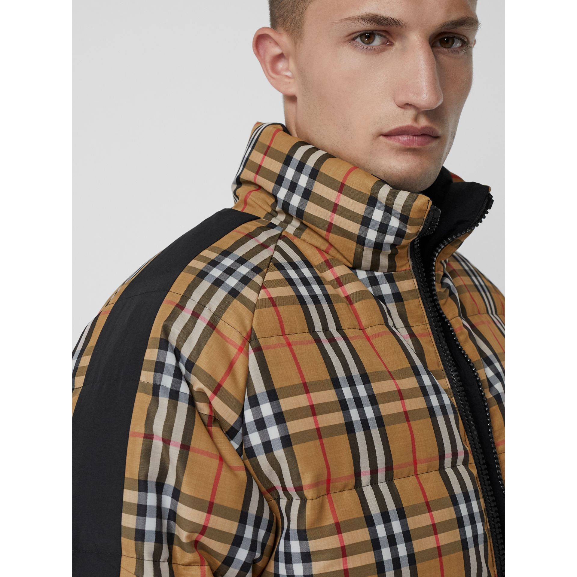 Reversible Vintage Check Down-filled Puffer Jacket in Antique Yellow - Men | Burberry United Kingdom - gallery image 4