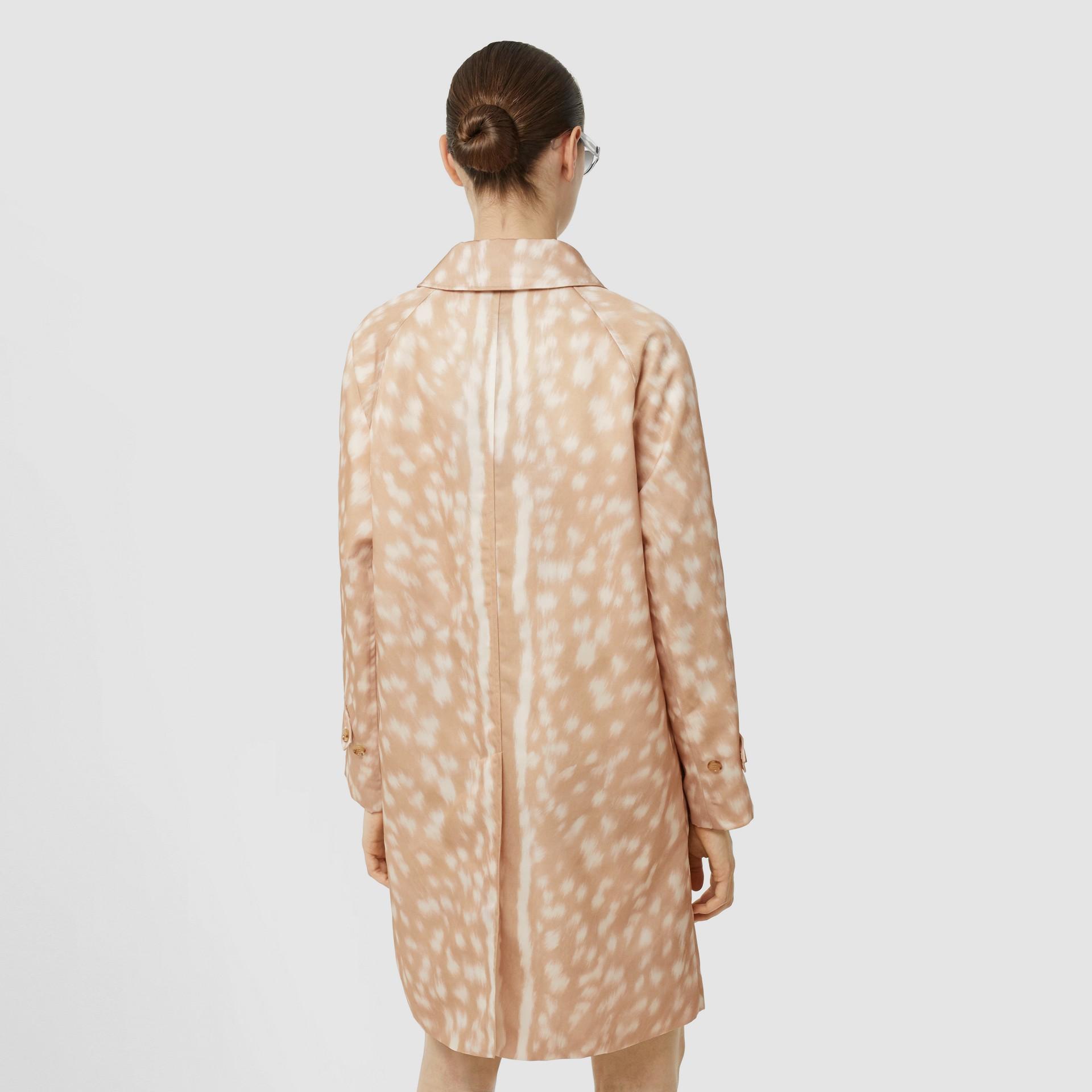 Deer Print Nylon Car Coat in Soft Fawn - Women | Burberry United Kingdom - gallery image 2