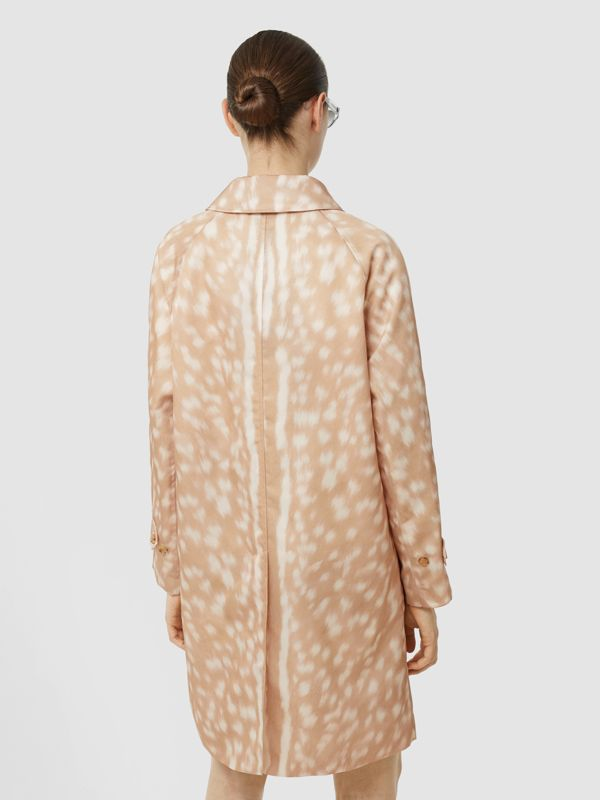 Deer Print Nylon Car Coat in Soft Fawn - Women | Burberry - cell image 2
