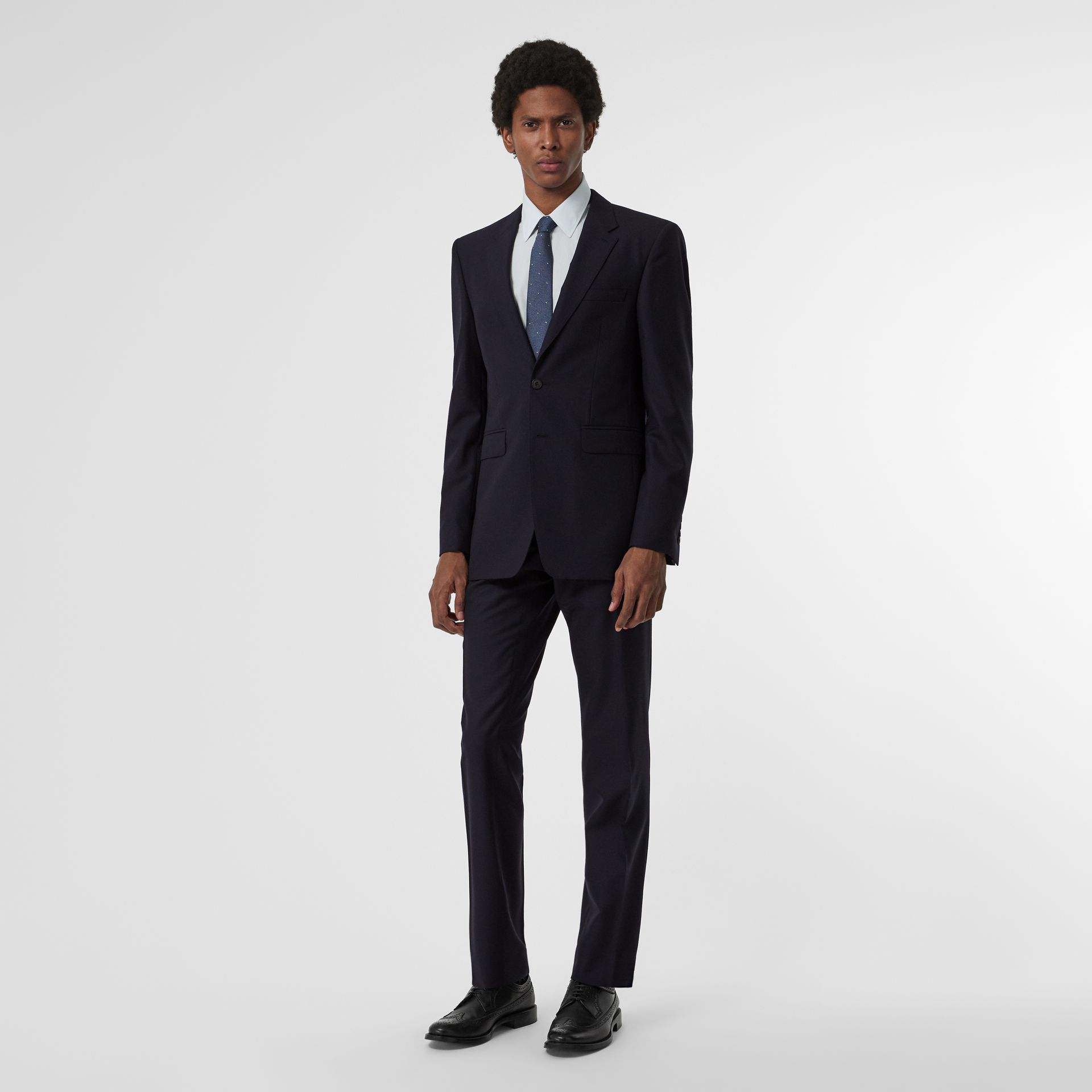 Modern Fit Wool Suit in Navy - Men | Burberry United Kingdom - gallery image 0