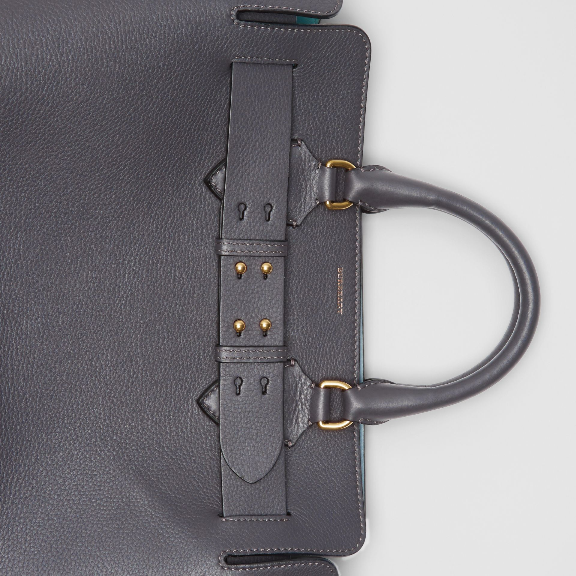 The Medium Leather Belt Bag in Charcoal Grey - Women | Burberry United Kingdom - gallery image 1