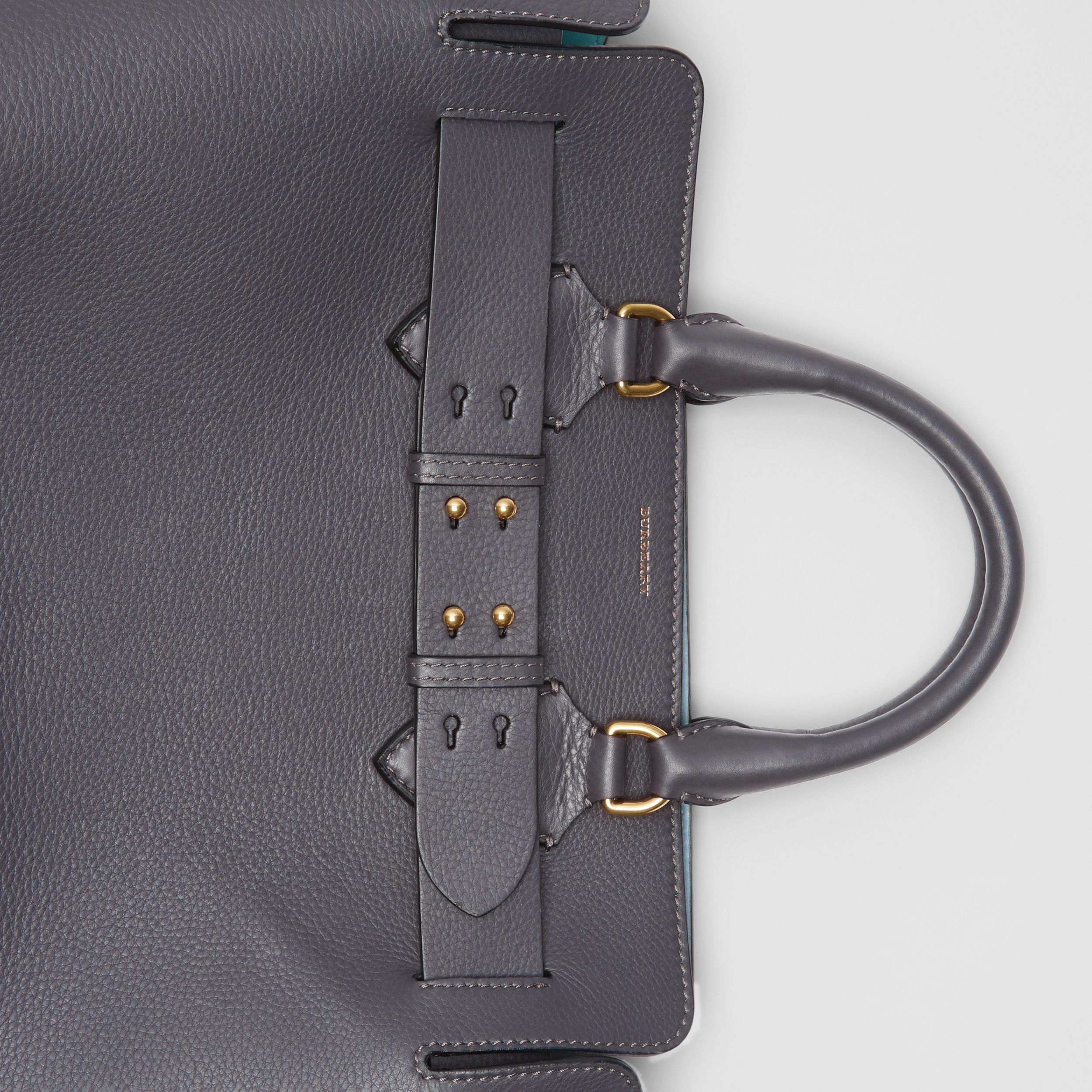 The Medium Leather Belt Bag in Charcoal Grey - Women | Burberry - 2