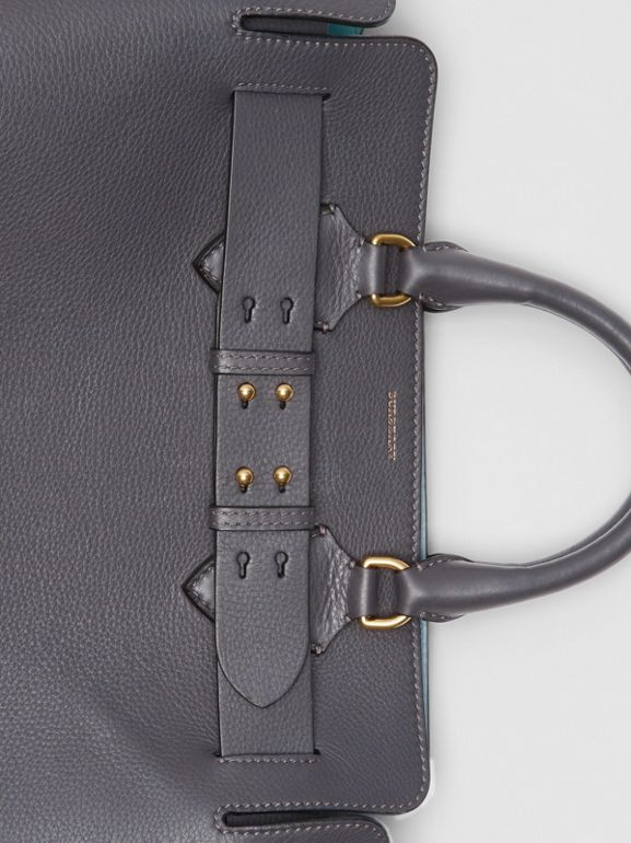 The Medium Leather Belt Bag in Charcoal Grey - Women | Burberry United Kingdom - cell image 1