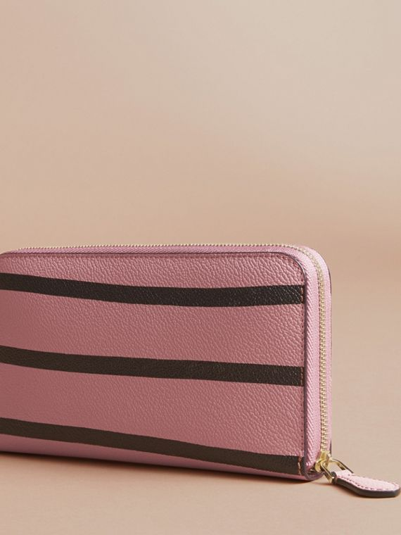 Trompe L'oeil Print Leather Ziparound Wallet - cell image 2