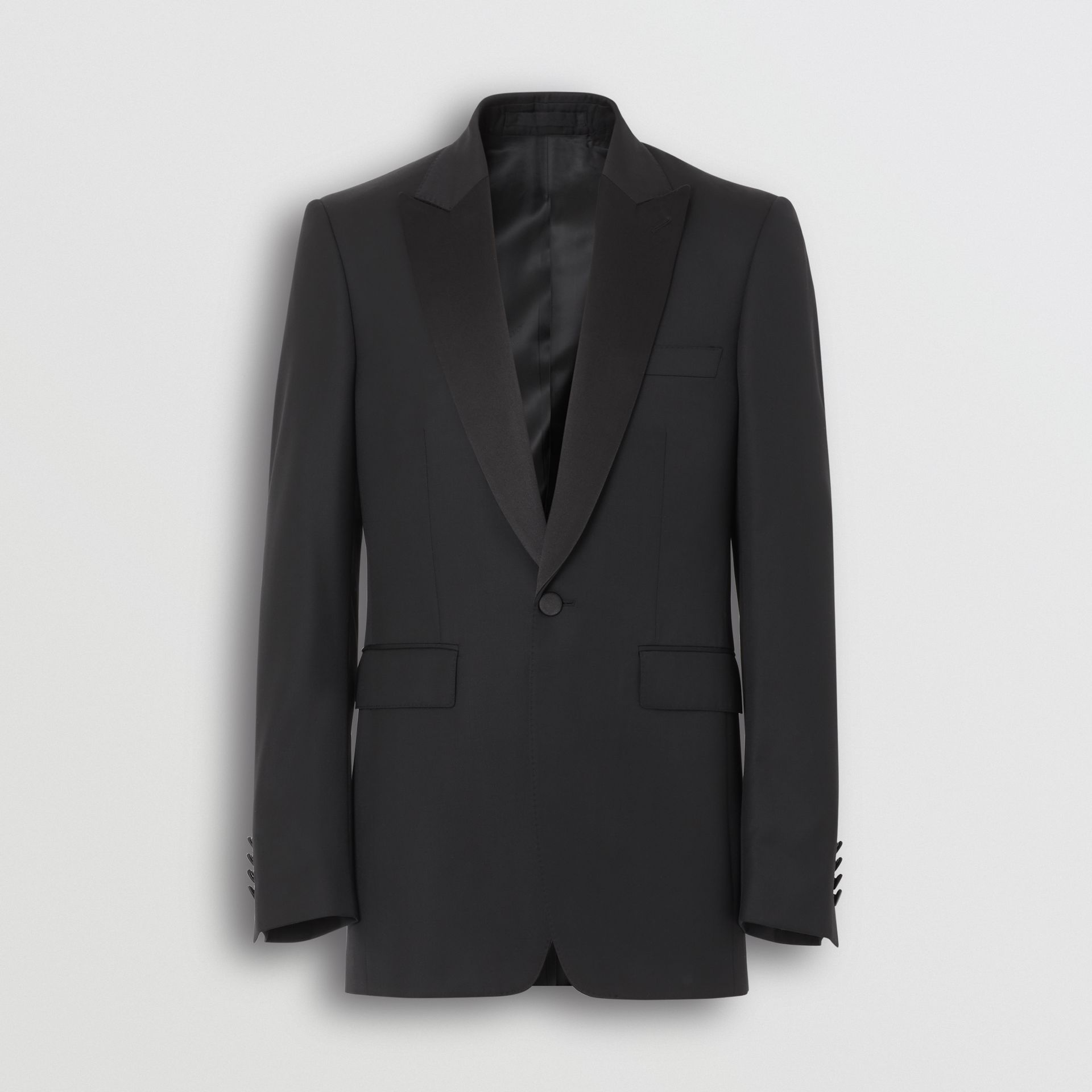 Classic Fit Wool Silk Tuxedo in Black - Men | Burberry - gallery image 3