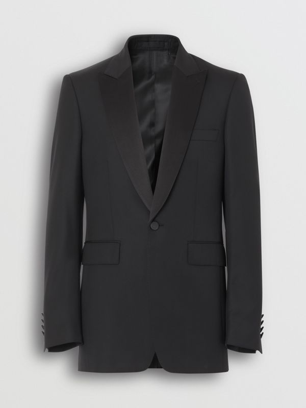 Classic Fit Wool Silk Tuxedo in Black - Men | Burberry - cell image 3
