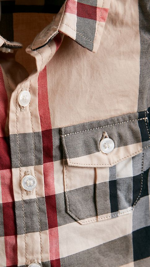 New classic Check Cotton Shirt - Image 3