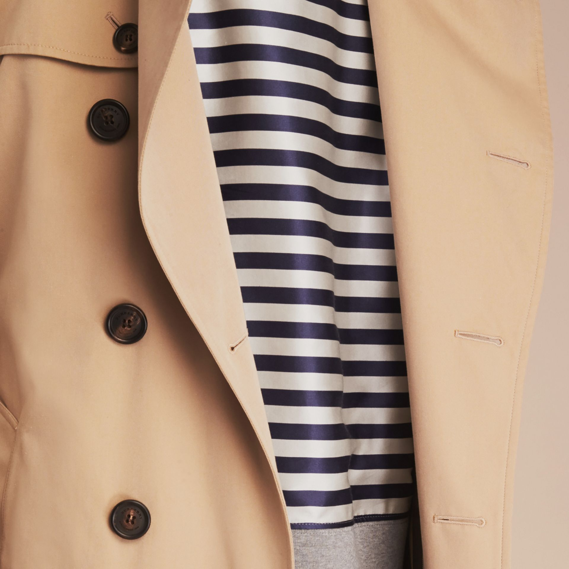 The Sandringham – Short Heritage Trench Coat in Honey - gallery image 6