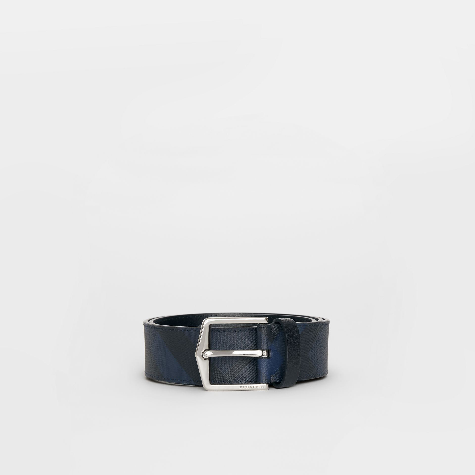 London Check Belt in Navy/black - Men | Burberry - gallery image 3