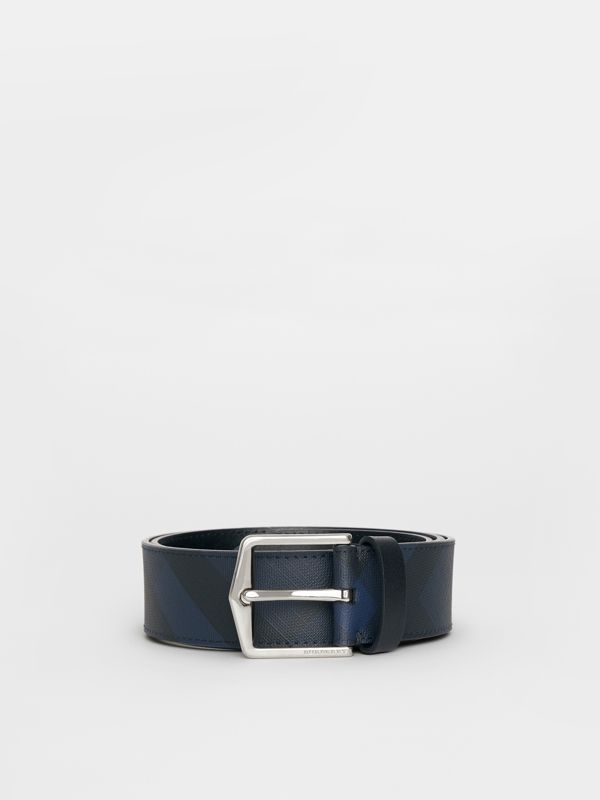 London Check Belt in Navy/black - Men | Burberry - cell image 3