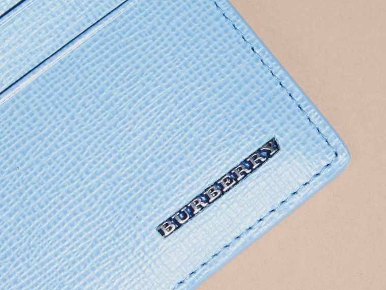 London Leather Card Case in Powder Blue - cell image 1