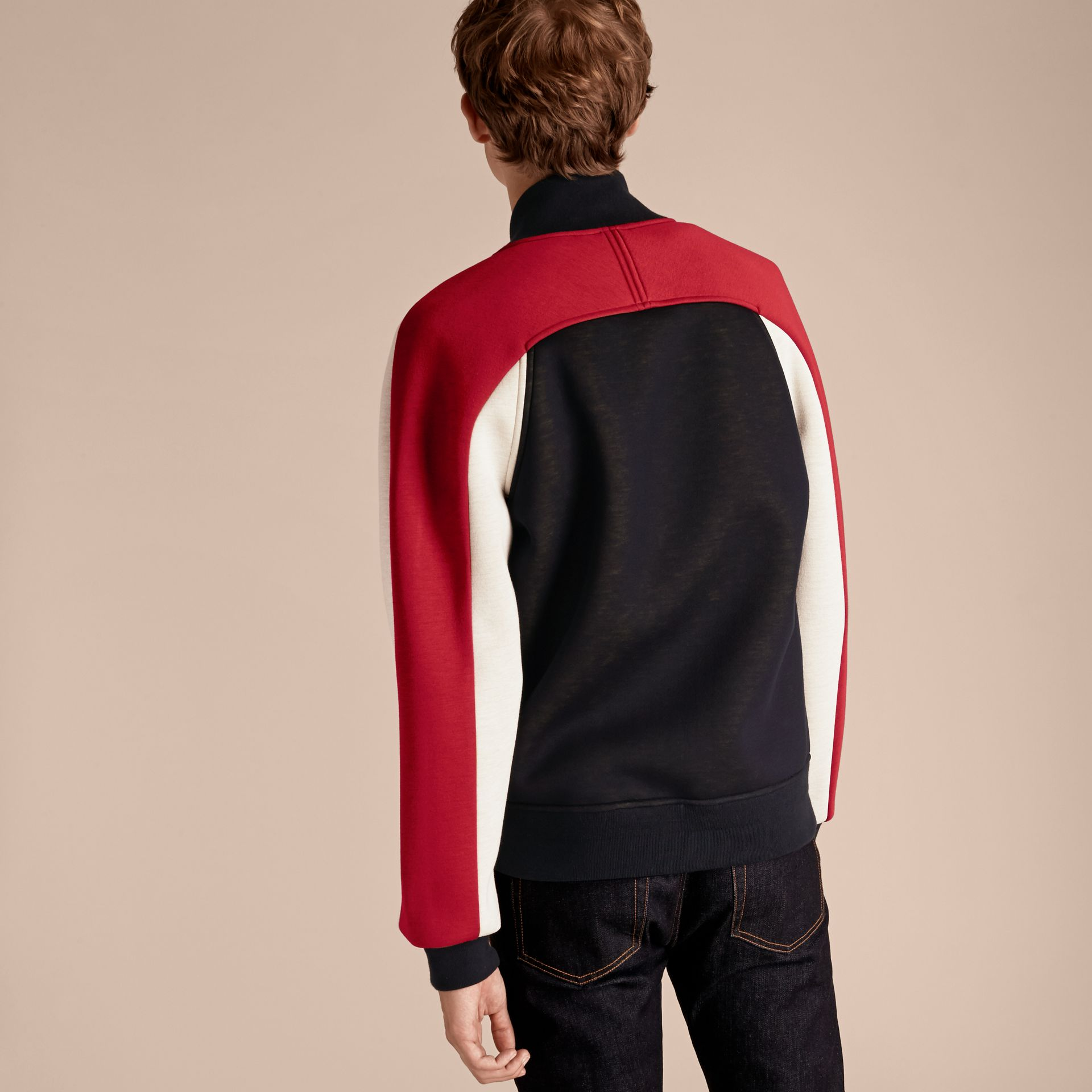 Panelled Jersey Bomber Jacket - Men | Burberry Singapore - gallery image 3
