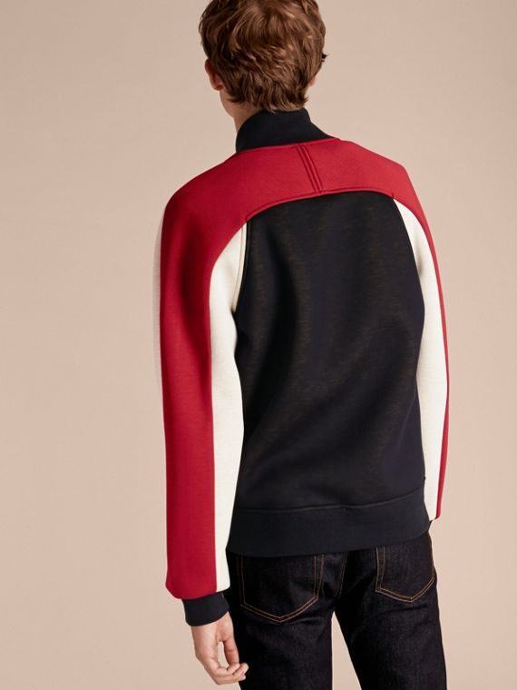 Panelled Jersey Bomber Jacket - Men | Burberry Singapore - cell image 2