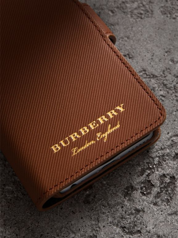 Trench Leather iPhone 7 Case in Tan | Burberry United Kingdom - cell image 1