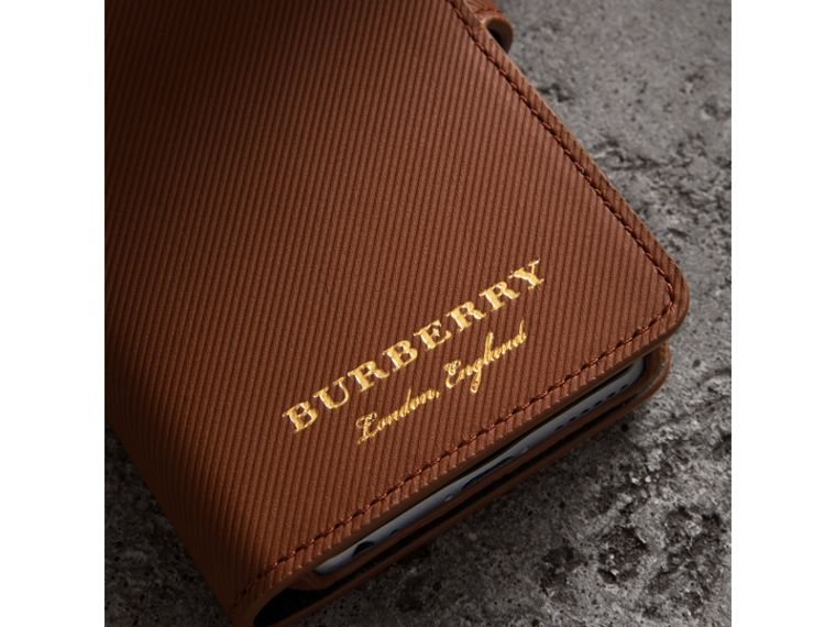 Trench Leather iPhone 7 Case in Tan - Men | Burberry - cell image 1