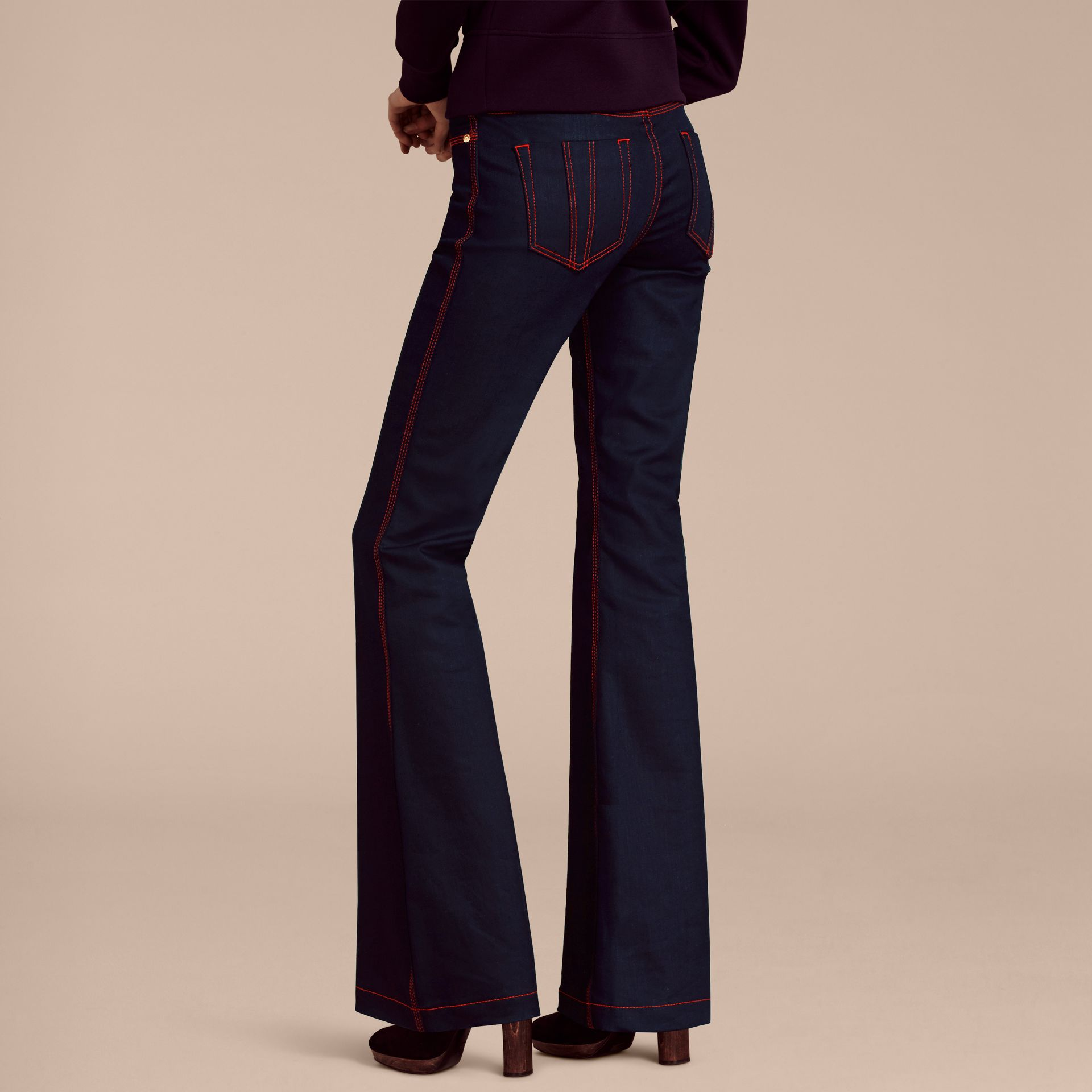 Flared Stretch Denim Jeans - gallery image 3