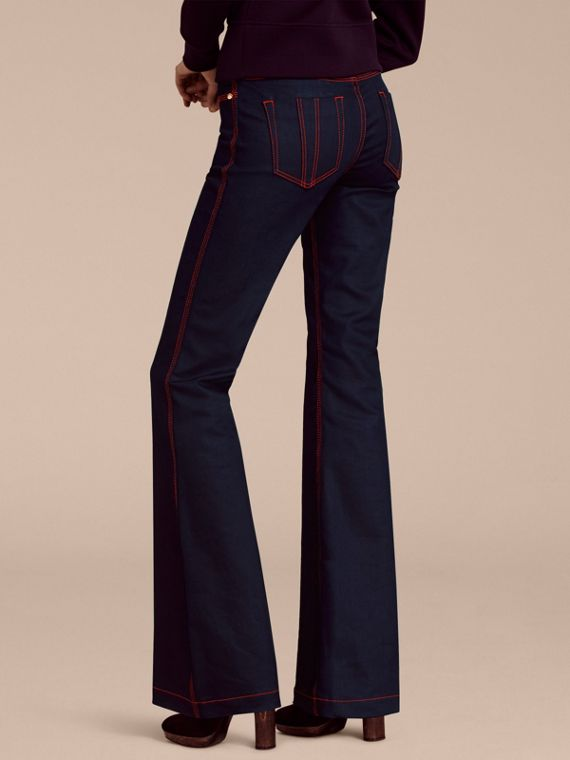 Flared Stretch Denim Jeans - cell image 2